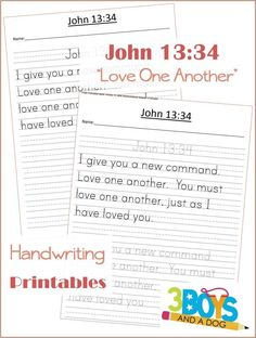 Your kids can improve their handwriting and learn what God tells us about Love with these FREE Printable Bible Verses: John 13:34