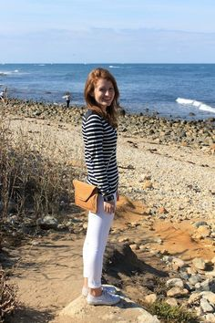 Vacation Outfits, Summer Outfits, Girl Outfits, Fashion Outfits, Prep Style, My Style, White Jeans Outfit, Nautical Stripes, J Mclaughlin