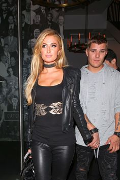 Paris Hilton leaving Catch