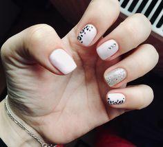 Leopard pink nails🎀