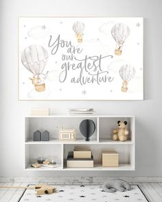 Hot air balloon nursery, Nursery decor neutral, you are our greatest adventure, gender Neutral Nursery Colors, Baby Room Neutral, Gender Neutral, Neutral Nurseries, Floral Nursery, Twin Nurseries, Baby Room Grey, Modern Nurseries, Nursery Themes