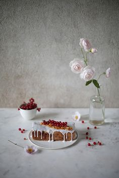 _our food stories_: glutenfree red currant cake with almonds