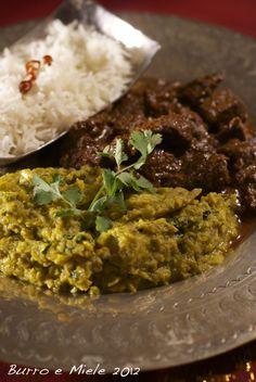 Burro e Miele: Curry di manzo, curry di melanzane e la miscela del Garam Masala, un omaggio a una donna più che straordinaria