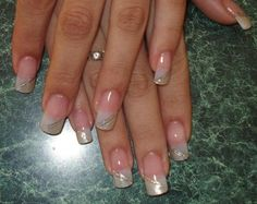 uñas french decoradas con cintilla - Buscar con Google