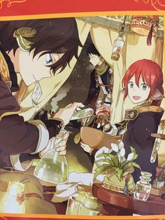 Shirayuki and ryu! and she has long hair again! snow white with Snow White With The Red Hair, White Hair, I Love Anime, Me Me Me Anime, Manga Anime, Anime Art, Akagami No Shirayukihime, The Ancient Magus, Hair Again