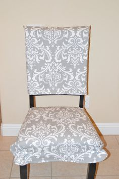 Kitchen Chair Slipcover Back Cover By BrittaLeighDesigns