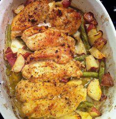 Lemon Garlic Chicken with potatoes