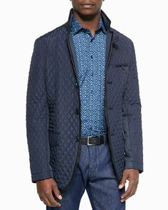 Etro - Diamone Quilted Jacket - NMF15_-5MNQ
