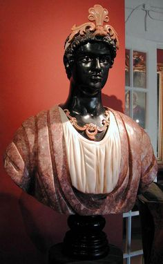 Exceptional Venetian Blackamoor in Marble, c.18th century from antiquingwithpamela on Ruby Lane-28,000$