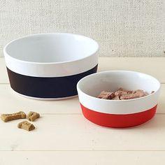 Dipper Pet Bowls - Red + Blue #westelm