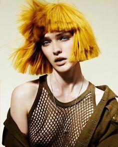 Colores rebeldes para hoy.  #Hair: Emily Warne & Peter Gibb Visto en Hairdressers Journal