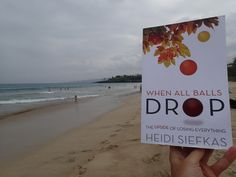 Where better to read than the beach? This shot of inspirational memoir #WhenAllBallsDrop was sent from a reader at Hapuna Beach, Big Island #Hawaii. Where are you reading it? #books #inspiration