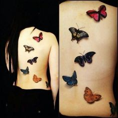 D Butterfly Tattoo Design You're thinking your appearance needs some spicing up, and that you wouldn't mind adding a little color to a secret place. Description from pinterest.com. I searched for this on bing.com/images