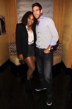 #Awww.... Two of my favorite players!! Serena Williams & Juan Martin del Potro!! #LUV --- Tennis players Serena Williams & Juan Martin del Potro attend the BNP Paribas Tennis Showdown cocktail party at Essex House on March 3, 2013 in New York City.