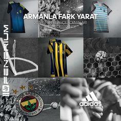 #ARMANLAFARKYARAT 2015/16 Sezonu Fenerbahçe formaları #AntalyaMigros Fenerium'da satışta! #BETHEDIFFERENCE