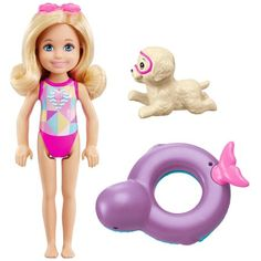 """Barbie Dolphin Magic Chelsea Doll with Puppy Playset - Mattel - Toys""""R""""Us Mattel Barbie, Toys R Us, Kids Toys, Cute White Puppies, Barbie Chelsea Doll, Accessoires Barbie, Club Chelsea, Barbie Website, Barbie Doll Accessories"""