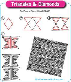 Triangles & Diamonds by Donna Stanchfield
