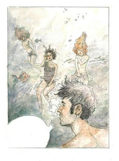 underwater by DiegoSM on DeviantArt Diego Sanchez, Underwater, Vintage World Maps, Deviantart, Painting, Cactus Plants, Comic Strips, Comics, Costumes