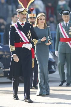 King Felipe and Queen Letizia of Spain attend Pascua Militar 1/6/2015