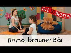 Bruno, brauner Bär - Yoga Bewegungslieder für Kinder || Kinderlieder - YouTube
