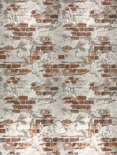 Orange Red Brown Brick Rustic Wall Wallpaper – wallcoveringsmart - Decoration, Room Decoration, Decoration Appartement, Home Decor, Bedroom Decor Best Bathroom Colors, Brown Bathroom, Brick Wallpaper, Vinyl Wallpaper, Wallpaper Roll, Basement Colors, Brown Brick, Living Room Red, Rustic Walls