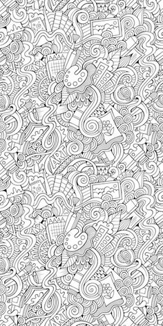 Add This Art Doodle Coloring Wallpaper To Any Classroom Or Playroom Let Kids
