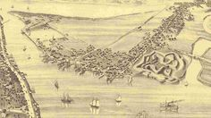 Annapolis Royal & Granville, Nova Scotia, 1878 bird's eye [birdseye] view or panoramic map, Canada Annapolis Royal, Acadie, Port Royal, Map Globe, Canada, Old Maps, Vintage Maps, View Map, Cartography
