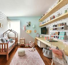 Nursery Room Decor, Kids Bedroom, Rainbow Room, Room Wallpaper, Cool Rooms, Baby Room, Sweet Home, Interior, Furniture