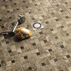 Find the best ceramic shower tile in 10 simple steps and explore free shower tile design ideas! Ceramic shower tile choices PLUS 40 beautiful ideas to spark your imagination. Shower Floor Tile, Ceramic Floor Tiles, Porcelain Tile, Tile Layout Patterns, Marazzi Tile, Shower Tile Designs, Floor Layout, Shower Remodel, Ceramics