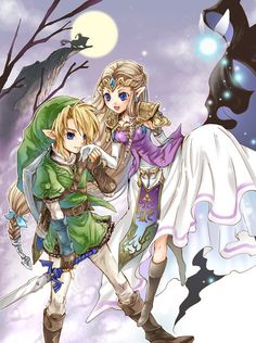 Link& Princess Zelda from Twilight Princess - Sweet Memory -   2011/12 (d'aww, so cute.... wait why arent you with me or midna?!)