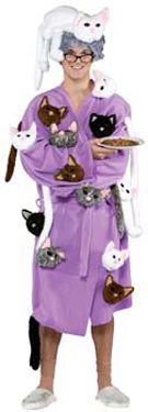 Crazy Cat Lady Cat collector fancy dress costume Unisex Funny fancy dress Lucky black cat