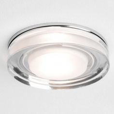 Astro Lighting 5518 Vancouver Round Bathroom Recessed Ceiling Downlight in Chrome and Glass Bathroom Mirror Lights, Bathroom Ceiling Light, Mirror With Lights, Ceiling Lamp, Bathroom Lighting, Round Led Ceiling Light, Recessed Ceiling Lights, Astro Lighting, Home