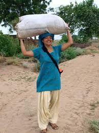 Hard working Punjabi woman.