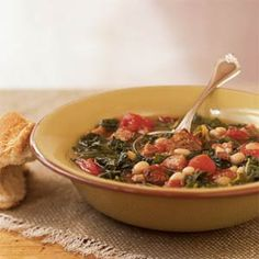 Sausage, Kale, and Bean Soup | MyRecipes.com