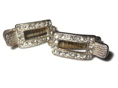 Vintage Art Deco rhinestone hair or dress clips wedding