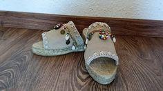 Sandalias de cuero y esparto