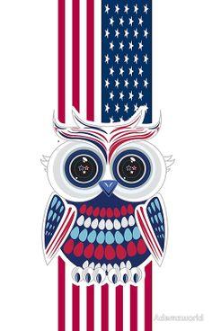 Patriotic Owl 2