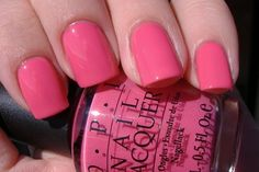 This pink is never demure! The OPI Feelin Hot-Hot-Hot is a head turning hot pink that sizzles. From The South Beach Collection from OPI. Gorgeous Nails, Pretty Nails, Nice Nails, Hello Gorgeous, Beautiful, South Beach, Opi Nails, Manicure, Nail Polishes