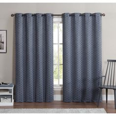 VCNY Duncan 84 Inch Grommet Top Blackout Curtain Panel Pair By VCNY