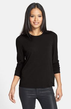 Eileen Fisher Silk Tee (Regular & Petite) available at #Nordstrom