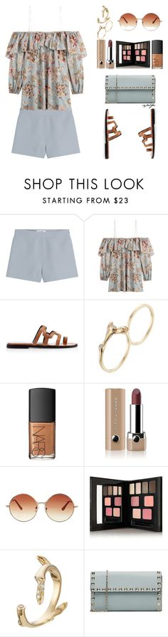 """Fleur"" by cybelfee ❤ liked on Polyvore featuring Valentino, Zimmermann, Pierre Hardy, Sophie Bille Brahe, NARS Cosmetics, Marc Jacobs, Topshop and Kevyn Aucoin"