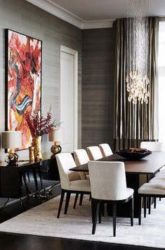 Dining room furniture ideas that are going to be one of the best dining room design sets of the year! Get inspired by these dining room lighting and furniture ideas! Elegant Dining Room, Luxury Dining Room, Dining Room Sets, Dining Room Design, Dining Tables, Modern Dining Rooms, Classic Dining Room, Modern Dinning Room Ideas, Glass Tables