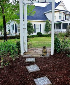 Cement Backyard Ideas concrete patio pavers Five Easy Painted Projects