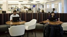 """What kind of office do you prefer to work in? The Wall Street Journal's """"Warming Up to the Officeless Office"""" says that more large companies are switching to communal office spaces. Will this create more collaboration/innovation, or more distraction? http://online.wsj.com/article/SB10001424052702304818404577349783161465976.html"""