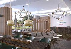 Courtyard by Marriott Hotel in Bogota reception/lobby