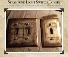 Steampunk Switch Plate Cover DIY by aGrimmDesign.deviantart.com on @deviantART
