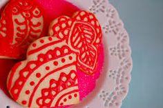 henna cookie template