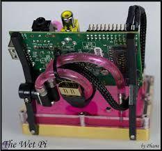 Water-cooled Raspberry Pi