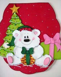 Juegos de baño en foami Felt Crafts, Christmas Crafts, Christmas Decorations, Christmas Ornaments, Holiday Decor, Christmas In July, Felt Christmas, Christmas 2017, Christmas Bathroom Sets