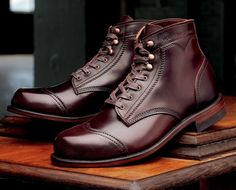 anchordivision: Wolverine 1000 Mile Boots for Leffot for GlobalGiving Charity; American Made Boots, Wolverine 1000 Mile Boots, Men's Shoes, Shoe Boots, Dress Boots, Sharp Dressed Man, Mode Style, Leather Shoes, Reebok